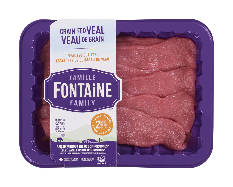 Délimax-Montpak launches Fontaine Family, a new brand of local superior-quality meat including grain-fed veal, GMO-free milk-fed veal, lamb and ready-to-cook products. (CNW Group/Délimax-Montpak)