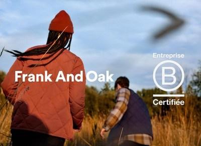 Frank And Oak est certifié B Corporation® (Groupe CNW/Frank And Oak)
