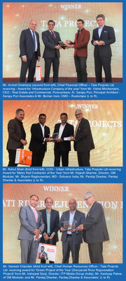 Tata Projects receiving three prestigious awards at Construction Week India Awards 2019