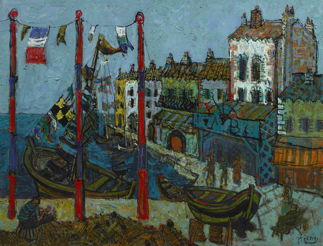 "Paul Aizpiri's ""Le Port de Saint Mandrier"" - Rehs Galleries, Inc., New York City"