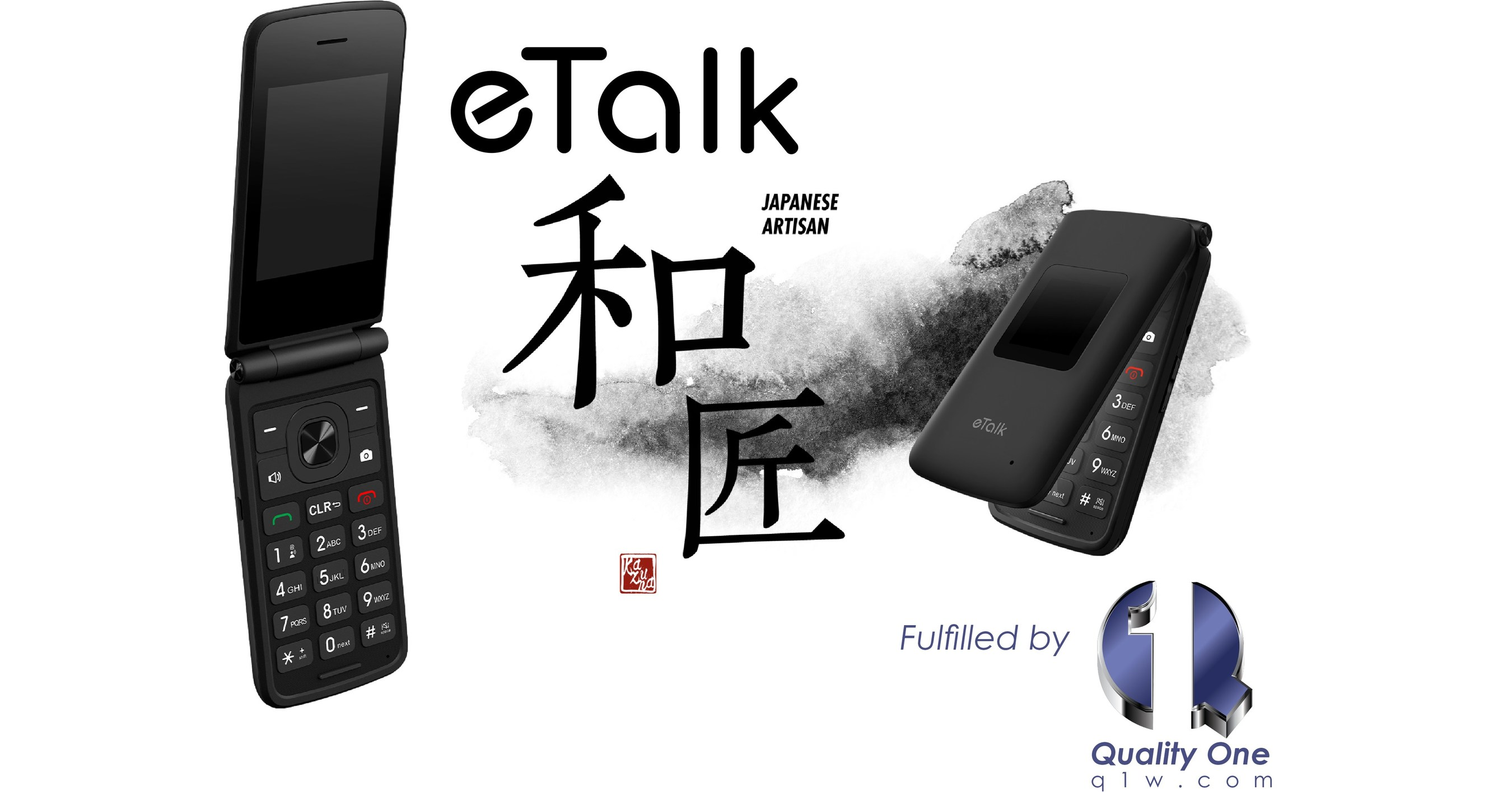 Takumi Japan and Quality One Wireless Team Up to Deliver the Takumi eTalk Flip Phone with a Traditional Postpaid Data Plan on the Verizon Network