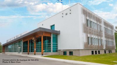Conservatoire de musique de Val-d'Or, Photo © Rémi Dion (Groupe CNW/Conservatoire de musique et d'art dramatique du Québec)