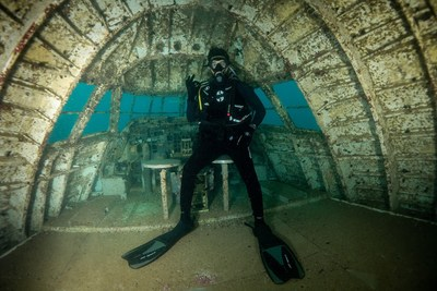 Diving Enthusiast visiting the site