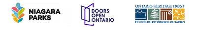 Niagara Parks, Doors Open Ontario and Ontario Heritage Trust logos (CNW Group/Ontario Heritage Trust)