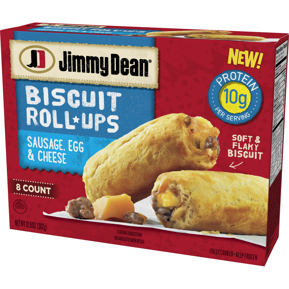Available nationwide this October, Jimmy Dean Biscuit Roll-Ups feature delicious meats, egg and cheese all rolled up in a soft, flaky biscuit for a hearty breakfast you can eat on-the-go.