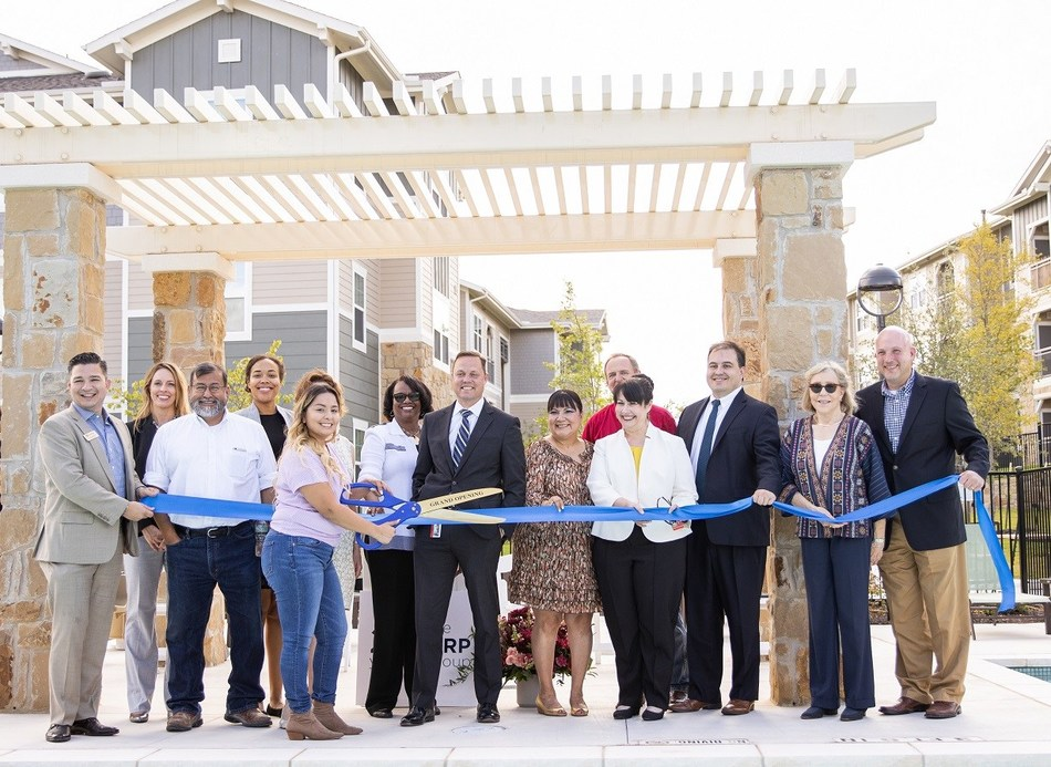 The NRP Group was joined by local officials at The Bridge at Harris Ridge ribbon cutting ceremony in Austin, Texas. (Credit: The NRP Group)