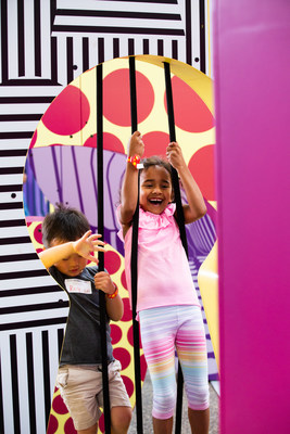 Children experience critical thinking in action—and a whole lot of fun—as they attempt to fit into unusual, cut-out shapes. MindWorks, a psychology exhibition, runs at to April 26, 2020 at the Ontario Science Centre. (CNW Group/Ontario Science Centre)