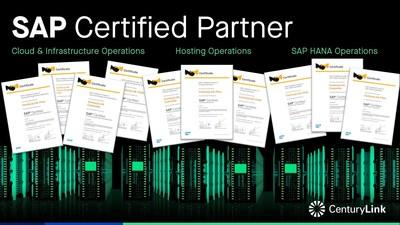 SAP Certified Partner (PRNewsFoto/CenturyLink, Inc.)