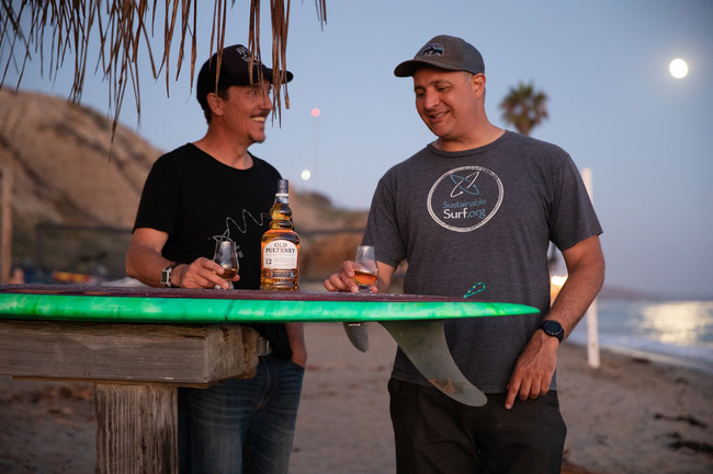 Old Pulteney, The Maritime Malt, partners with Michael Stewart and Kevin Whilden of Sustainable Surf to launch the first short film in the U.S. for its new global campaign Rise With The Tide, which follows inspirational stories of those whose lives have been shaped by the sea.
