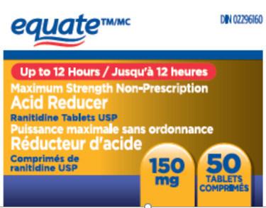 Equate 50 comprimés (Groupe CNW/Santé Canada)