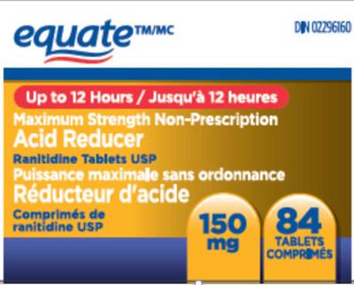 Equate 84 comprimés (Groupe CNW/Santé Canada)