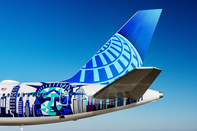 United Airlines New York/New Jersey Her Art Here Airplane Tail