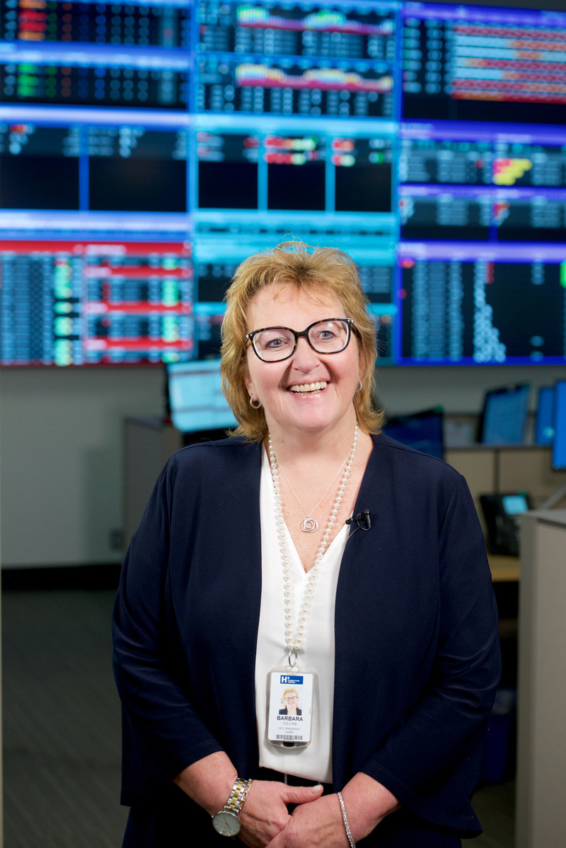 Barbara Collins, President & CEO of Humber River Hospital in the hospital's Command Centre (CNW Group/Humber River Hospital)