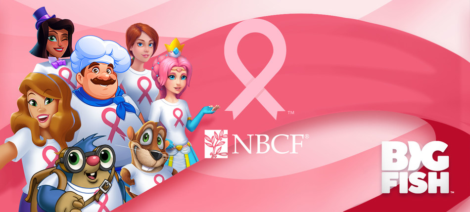"Big Fish Games hopes to rally seven million players across several of its free-to-play titles to ""play for a cause"" in support of National Breast Cancer Awareness Month"