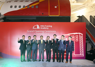 Hong Kong Airlines senior management toasting at the opening ceremony (PRNewsfoto/Hong Kong Airlines Limited)