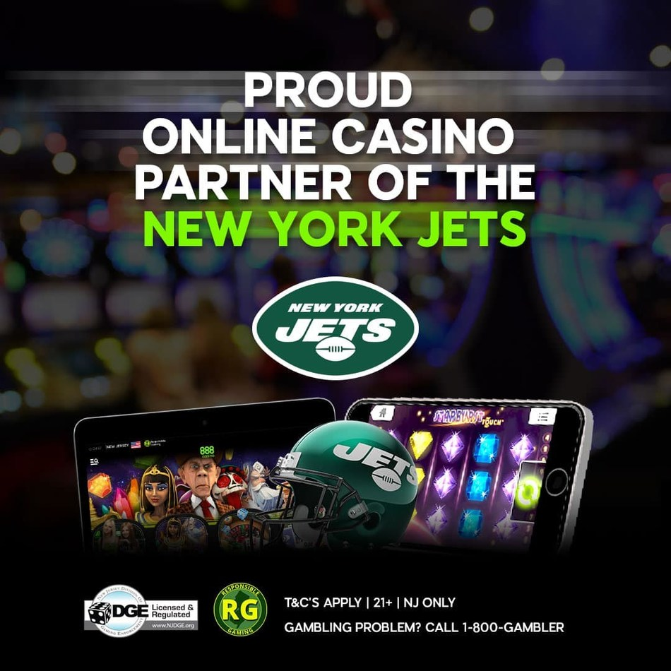 888casino extends New York Jets partnership (PRNewsfoto/888casino)