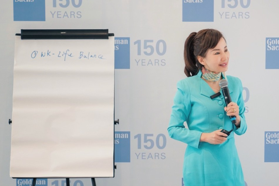 Ctrip CEO Jane Sun (pictured) speaks at the 2019 Goldman Sachs Women's Forum