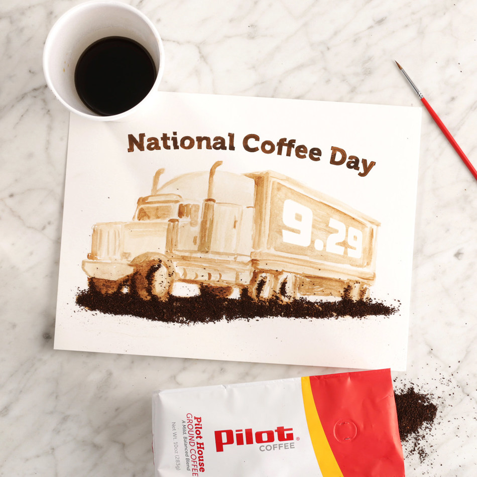 "Celebrate National Coffee Day with a free cup of the ""best coffee on the interstate"" at Pilot and Flying J locations using the exclusive offer in the Pilot Flying J app."