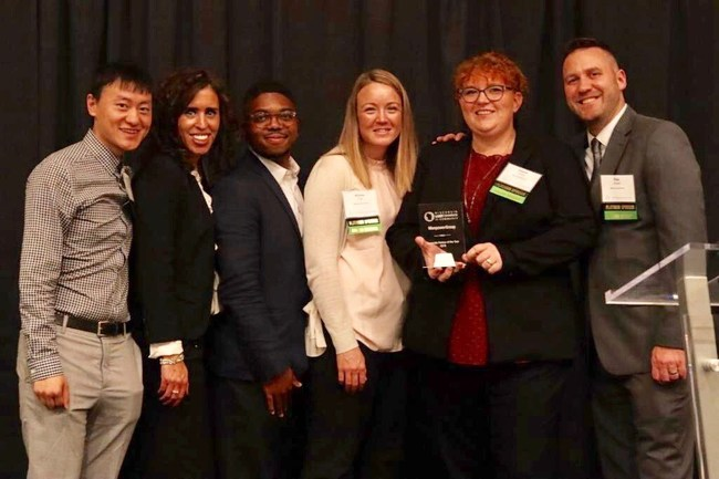Elevate, ManpowerGroup's LGBT business resource group accepted the Wisconsin LGBT Chamber of Commerce Corporate Partner of the Year award at the Chamber's Business Awards & Showcase September 25, 2019.