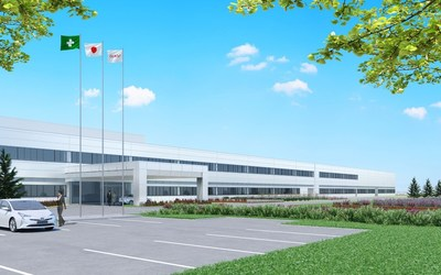 Completion image of DENSO Hokkaido Corporation after plant expansion