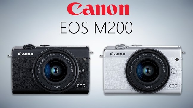 Sleek and impressively versatile, the Canon EOS M200 mirrorless camera blends a wide range of shooting capabilities with an everyday form factor.