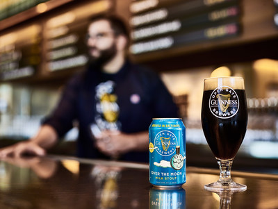 Guinness Over The Moon Milk Stout is the newest beer from the Guinness Open Gate Brewery in Baltimore, MD