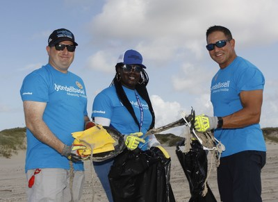 LyondellBasell Matagorda staff and volunteers did their part to help end plastic waste by picking up 120 bags of plastic waste and garbage on area beaches.