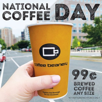 99¢ Any Size Brewed Coffee on National Coffee Day at Coffee Beanery