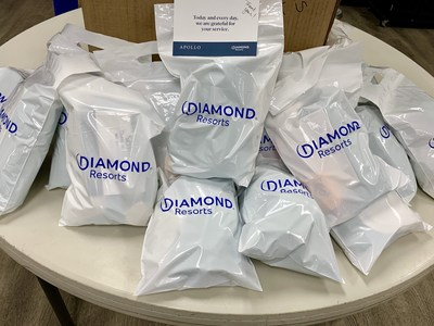 Diamond Resorts team members delivered more than 800 hygiene kits to U.S.VETS – Las Vegas to help local at-risk veterans on Wednesday, Sept. 25, 2019. U.S.VETS is the nation's largest nonprofit provider of comprehensive services to homeless and at-risk veterans, with 20 residential sites and nine service centers across five states and in Washington D.C.