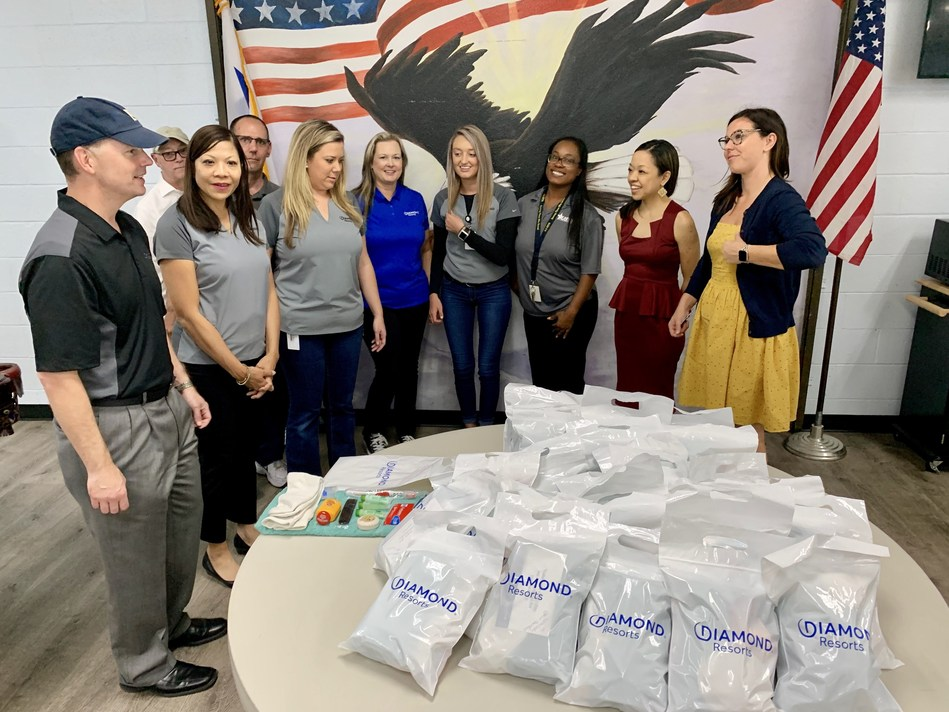 Team members from Diamond Resorts, a Las Vegas-based hospitality company, toured the U.S.VETS – Las Vegas location on Wednesday, Sept. 25, 2019. Diamond Resorts has partnered with the nonprofit to help local veterans in need.