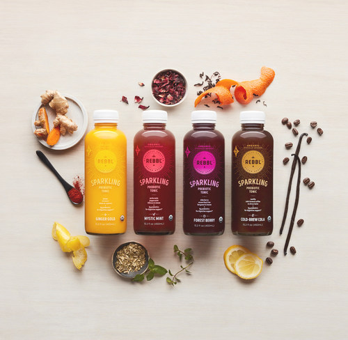Super Herb Beverage Pioneer, REBBL, Launches a New Line of Sparkling Prebiotic Tonics for Digestive Support
