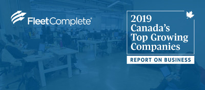 The inaugural Report on Business ranking of Canada's Top Growing Companies put Fleet Complete® at No. 160 with the three-year growth of 227%. (CNW Group/Fleet Complete)