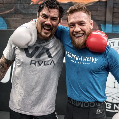 Hans Molenkamp (left) with professional MMA fighter Conor McGregor