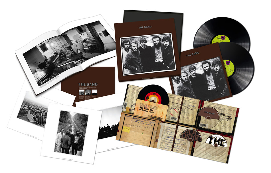 "On November 15, Capitol/UMe will celebrate The Band's pioneering self-titled album with a suite of newly remixed and expanded 50th Anniversary Edition packages, including a Super Deluxe CD/Blu-ray/2LP/7-inch vinyl boxed set with a hardbound book; 1CD, digital, 180-gram 2LP black vinyl, and limited edition 180-gram 2LP ""tiger's eye"" color vinyl packages."