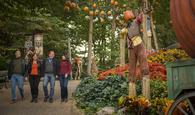 """Busch Gardens Williamsburg has been named the """"World's Most Beautiful Theme Park"""" for the 29th consecutive year.  The park is now transformed for its popular Halloween event, Howl-O-Scream. Beautiful fall foliage, combined with seasonal landscaping transform Busch Gardens Williamsburg into an incredible destination for fall travel."""