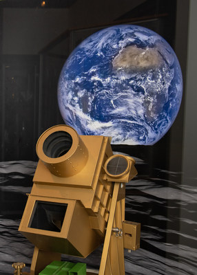 """This Far Ultraviolet camera/spectrograph is a model of the Apollo 16 mission camera. Dr. George Carruthers patented and developed the camera based on instruments flown on sounding rockets and satellites. It is the first Moon-based """"astronomical"""" observatory. The observatory is still on the Moon today, but is no longer operational.  (U.S. Navy photo by Mass Communication Specialist 3rd Class Josiah Pearce; U.S. Naval Academy/Released)"""