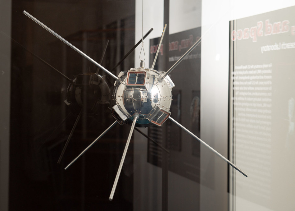 Vanguard I – the first Navy satellite on-orbit and the first solar powered satellite. Vanguard I is the oldest spacecraft still orbiting the Earth. (U.S. Navy photo by Mass Communication Specialist 3rd Class Josiah Pearce; U.S. Naval Academy/Released)