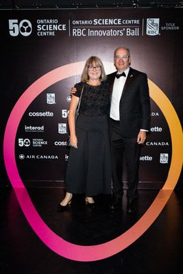 Nobel laureate in physics Dr. Donna Strickland and her husband Doug Dykaar attend the 50th Birthday RBC Innovators' Ball at the Ontario Science Centre on September 26, 2019. (CNW Group/Ontario Science Centre)