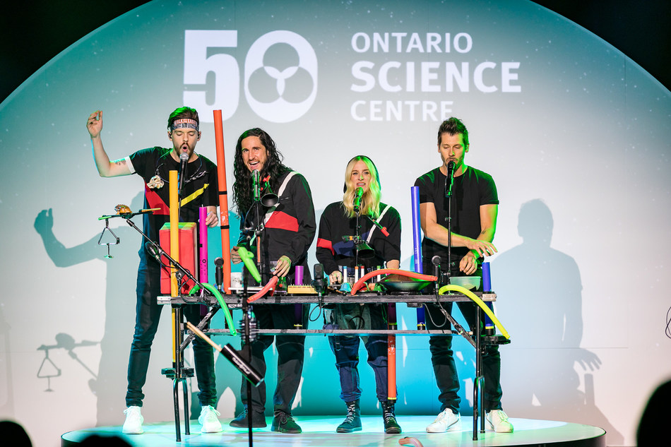 Juno Award-winning band Walk Off The Earth performs at the 50th Birthday RBC Innovators' Ball at the Ontario Science Centre on September 26, 2019. (CNW Group/Ontario Science Centre)