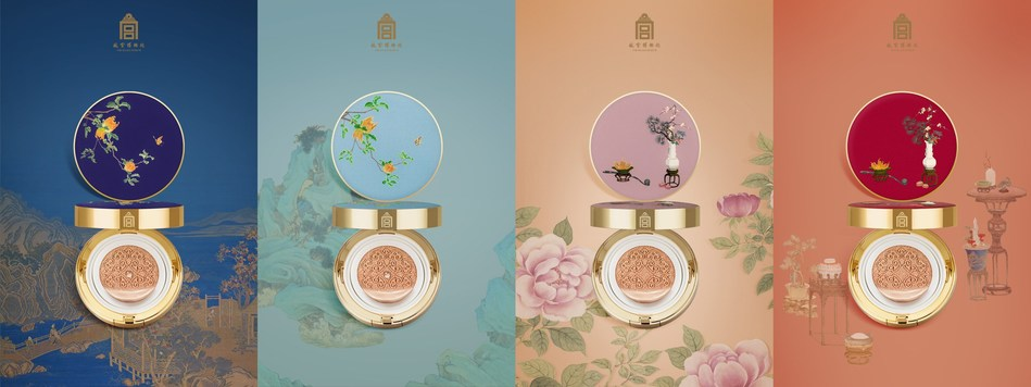 The packaging of the cushion compacts