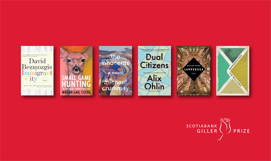 Six Canadian authors named to the 2019 Scotiabank Giller Prize shortlist (CNW Group/Scotiabank)