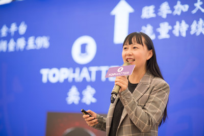 Helena Zhang, head of Tophatter China, made the speech