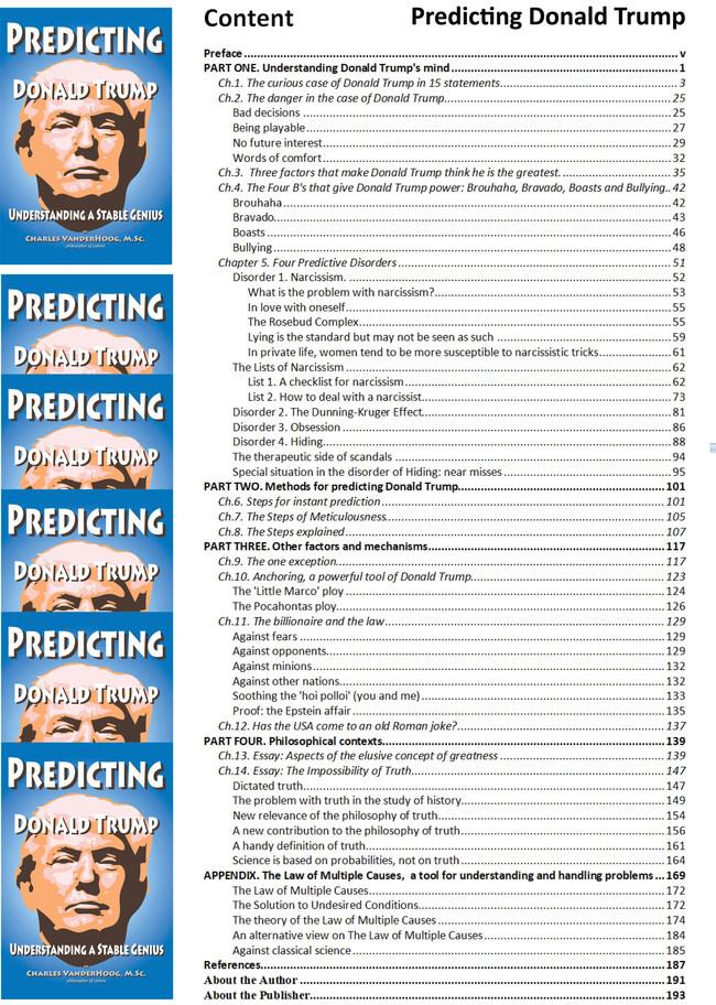 Book content of Predicting Donald Trump, Understanding a Stable Genius