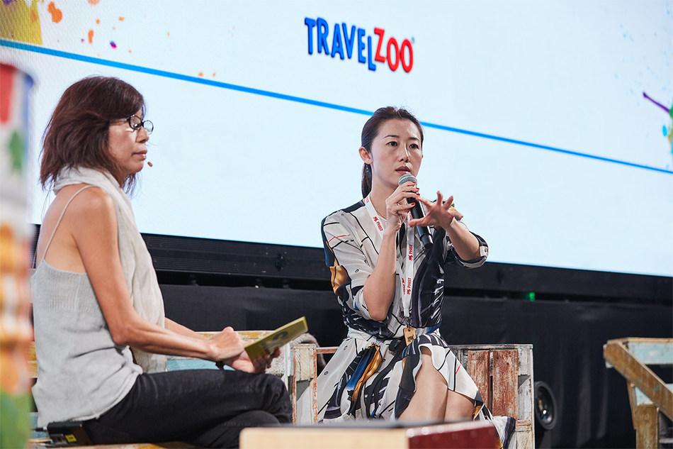 Sharry Sun, Global Head of Brand of Travelzoo, interviewed by Skift's Asia Editor Raini Hamidi, at PHIST