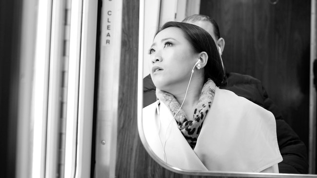 Production still from the film Into the Night, Directed by Kate Li, Written by Kate Li and J.D. Benjamin, Produced by Kate Li and J.D. Benjamin
