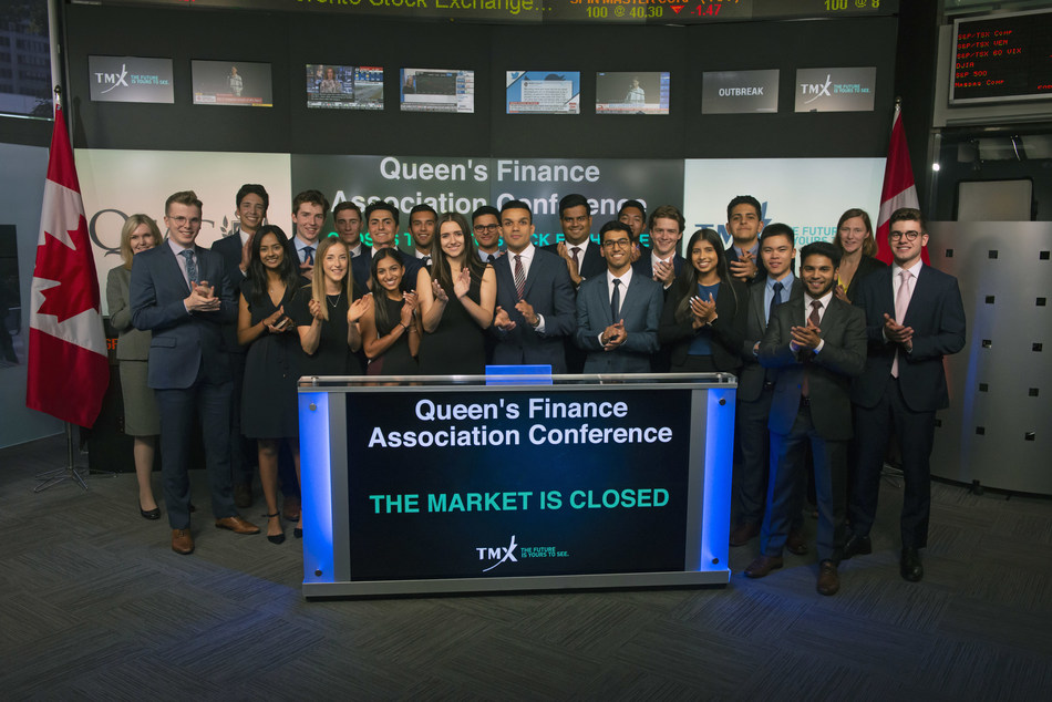 Queen's Finance Association Conference Closes the Market (CNW Group/TMX Group Limited)