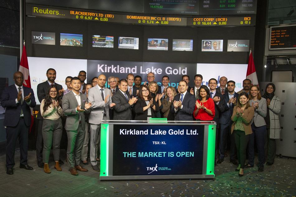 Kirkland Lake Gold Ltd. Opens the Market (CNW Group/TMX Group Limited)