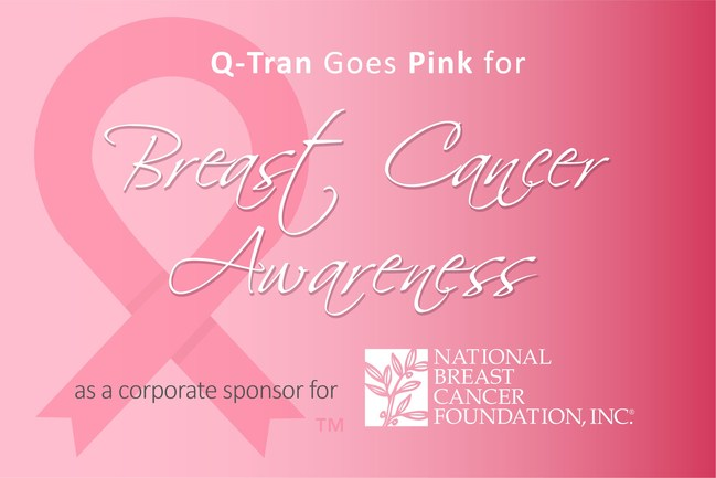 Q-Tran Goes Pink for October
