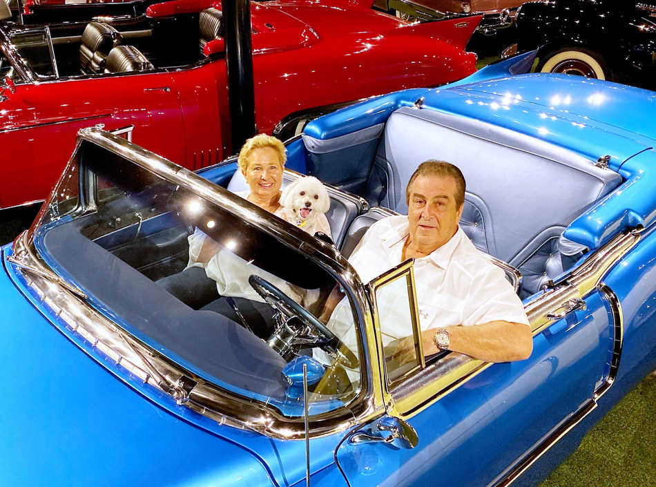 "John Staluppi, with his wife Jeanette, will sell their ""Cars of Dreams Collection"" with Leake Auctions during the company's multi-day Scottsdale, AZ event in January 2020 (CNW Group/Ritchie Bros. Auctioneers)"