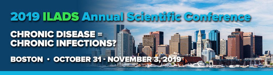 The International Lyme and Associated Diseases Society (ILADS) 20th Annual Conference. This year's conference will be held on October 31-November 3, 2019, at the Westin Copley Place in downtown Boston, Massachusetts.